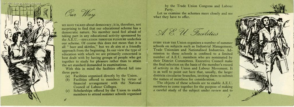 AEU educational scheme, 1953