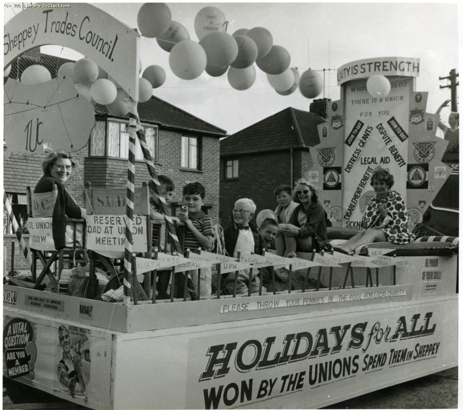 Isle of Sheppey Trades Council exhibition float, 1962