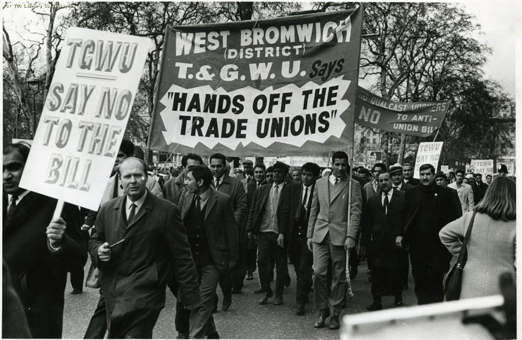 Demonstration against the Industrial Relations Bill, London, 1971