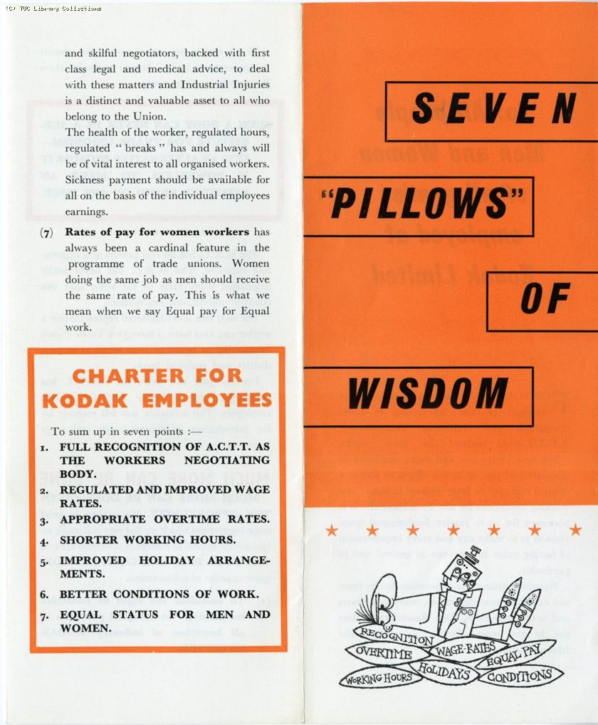 Seven pillows of wisdom - ACTT leaflet, 1965