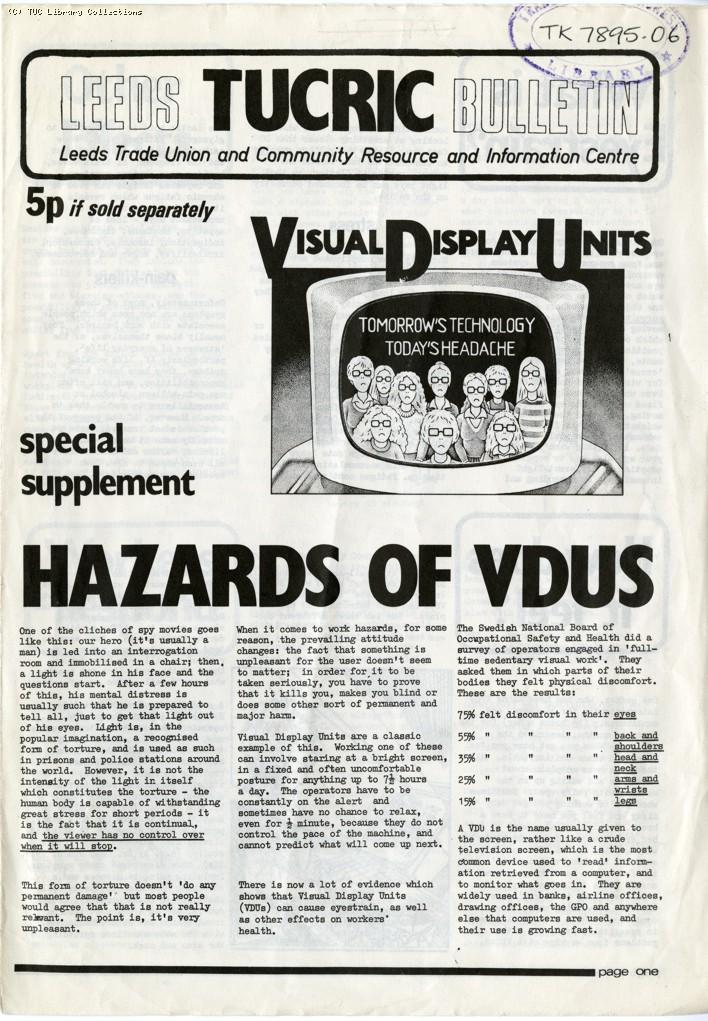 Hazards of VDUs, 1979