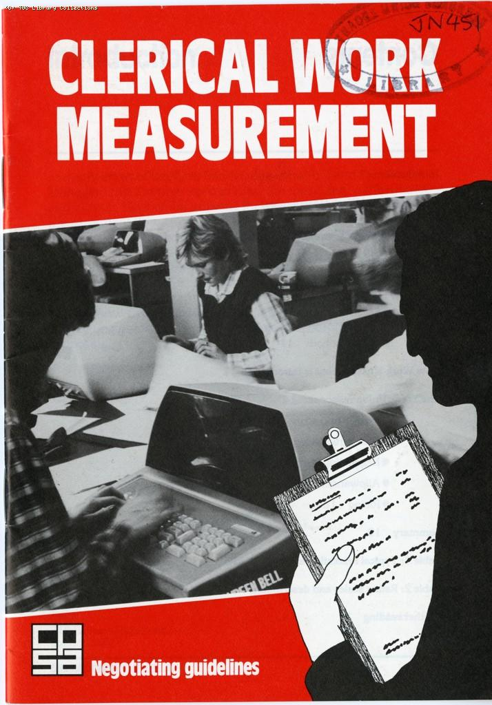 Clerical work measurement, 1985