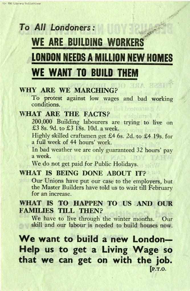 Building workers campaign, c.1945