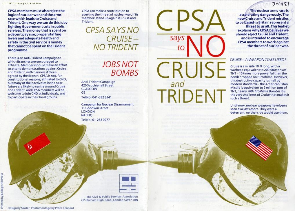 CPSA says no to Cruise and Trident, 1984