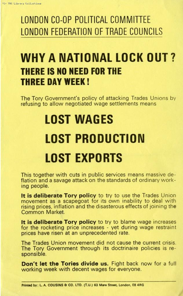 Three Day Week - leaflet, 1973