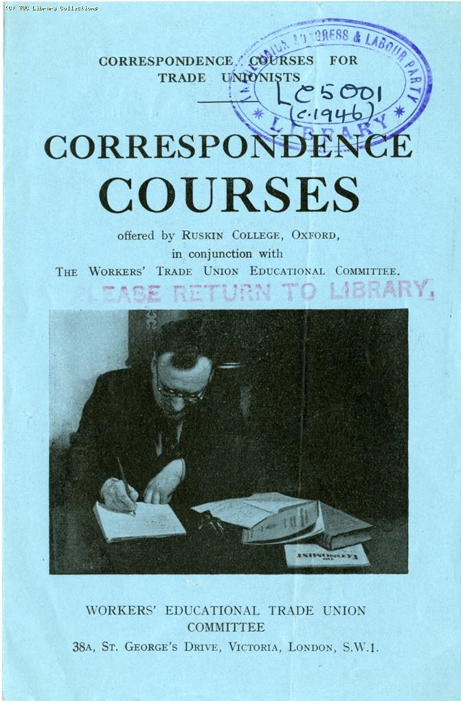 Ruskin College correspondence courses, 1946
