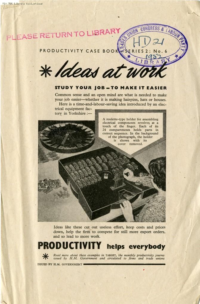 Ideas at work, 1952
