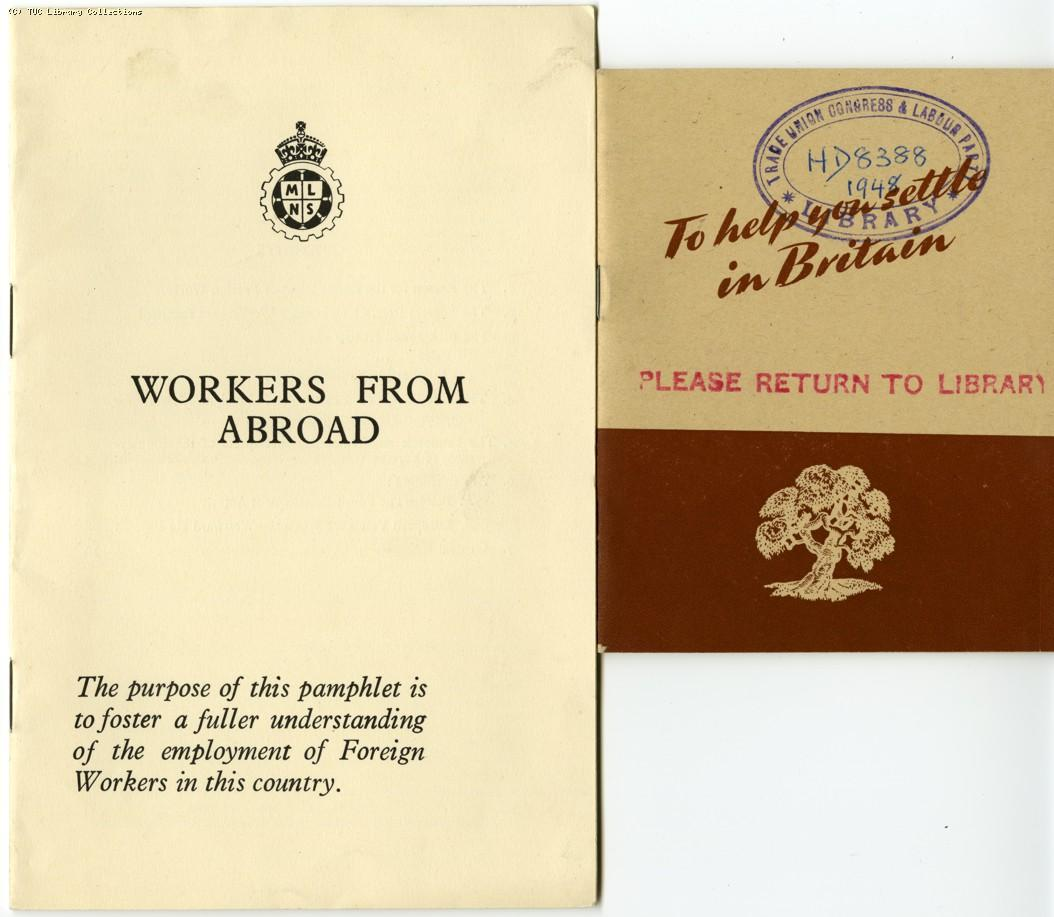 Workers from abroad, 1948
