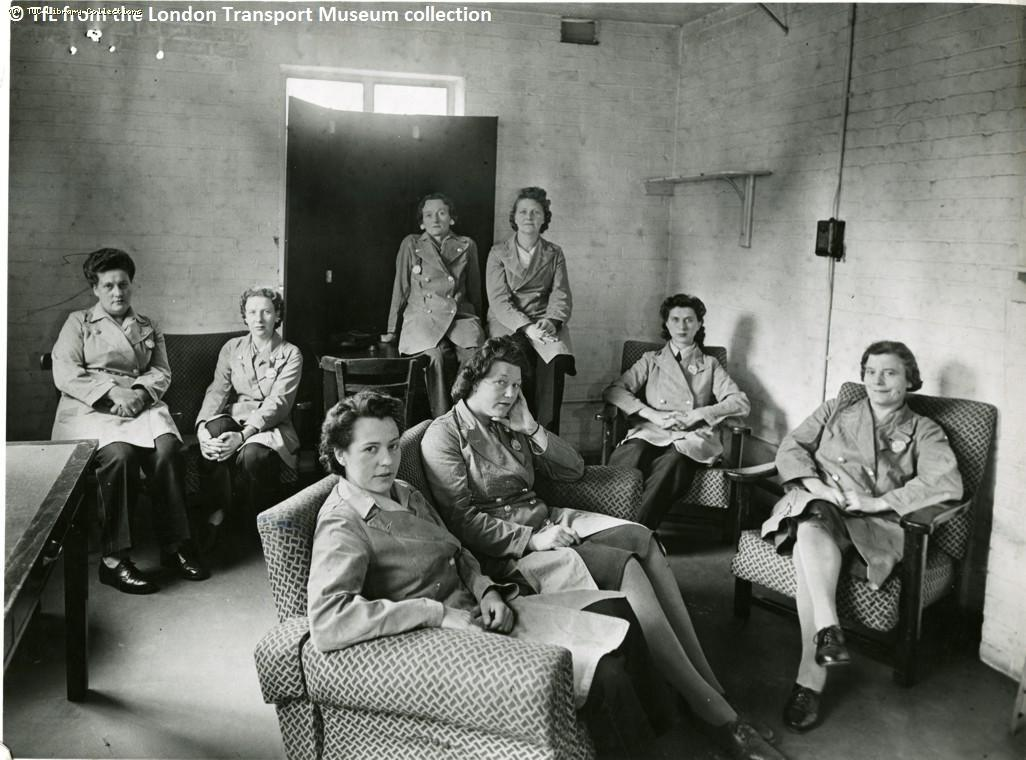 Fulwell Bus Depot rest room, 1947
