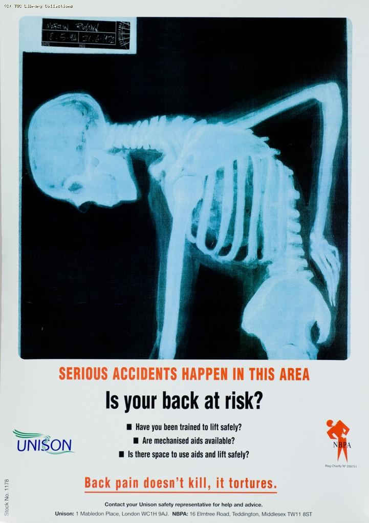 Health and safety - UNISON poster, c. 1990