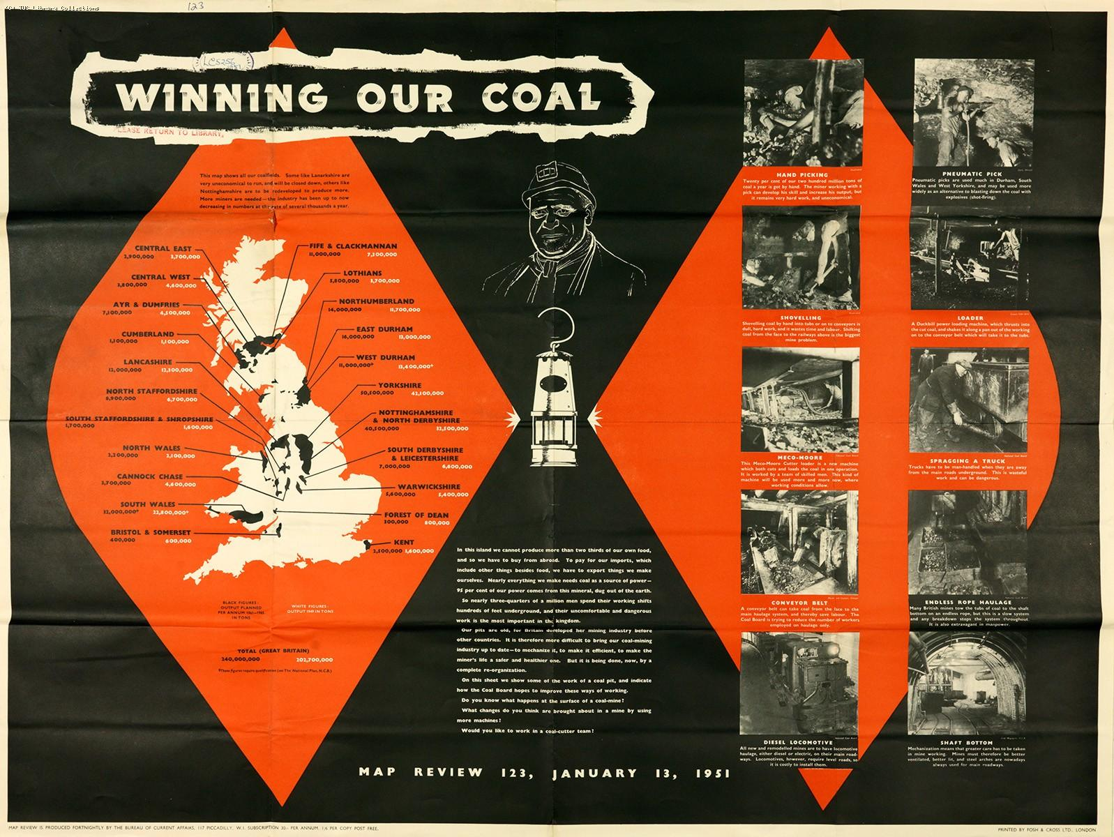 Winning our coal - poster, 1951