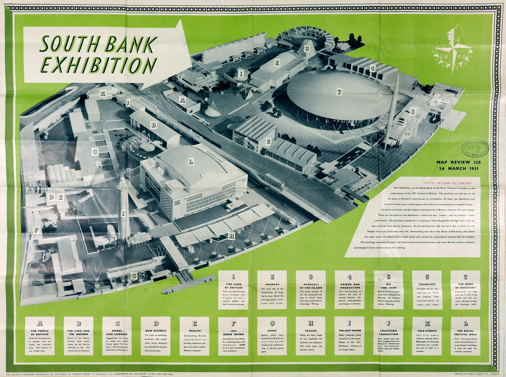 South Bank Exhibition - poster, 1951