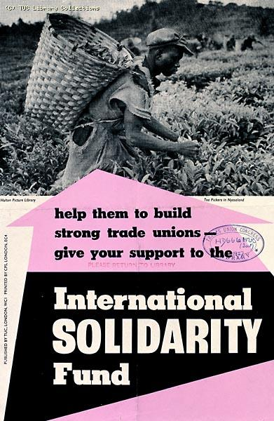 International Solidarity Fund - TUC poster, 1937