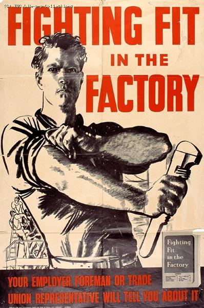 Fighting fit in the factory - poster 1941