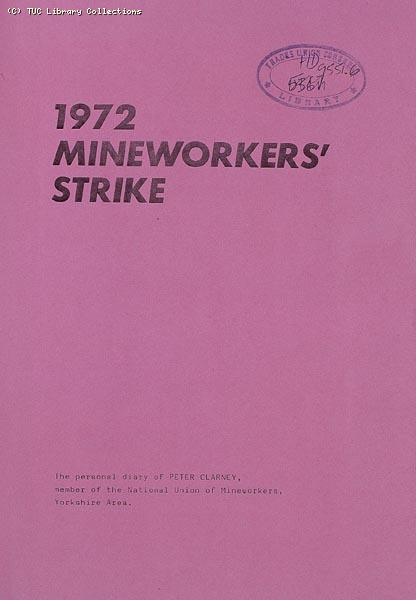 Pamphlet - 1972 Miners Strike