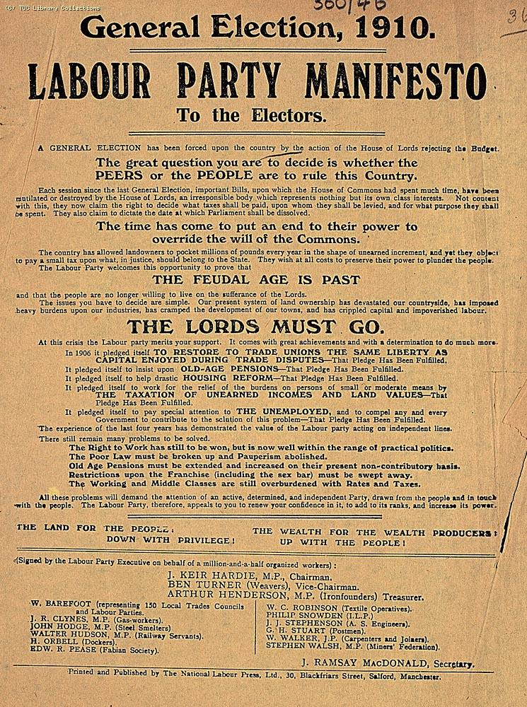 Labour Party Manifesto, 1910
