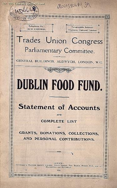 Dublin Food Fund, 1913-14