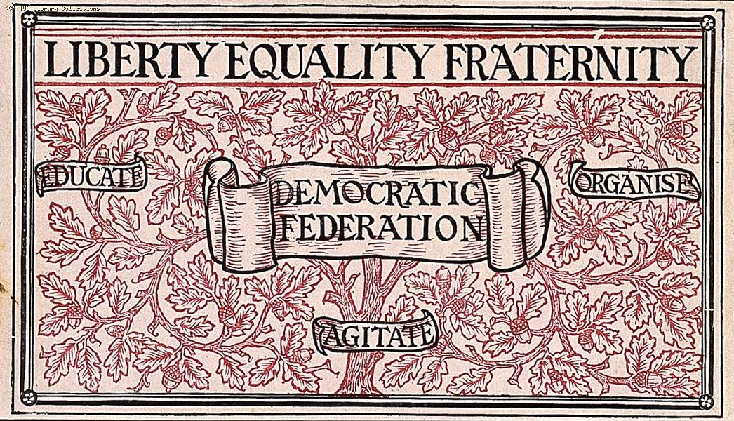 Democratic Federation membership card