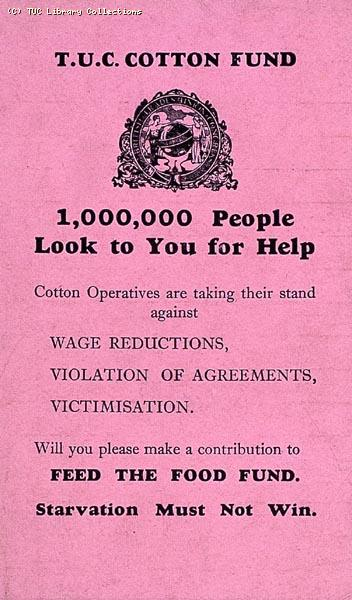 TUC Cotton Fund, 1932