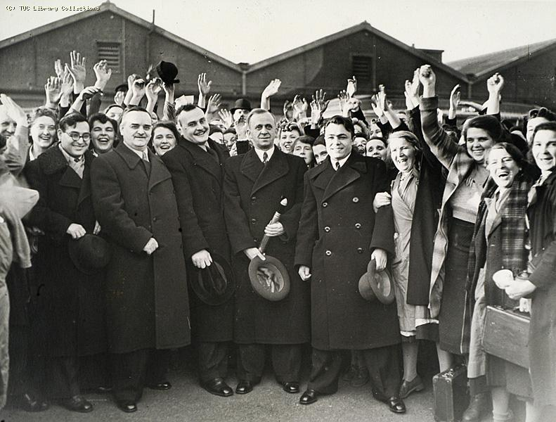 Soviet Delegates Visit to War Factory