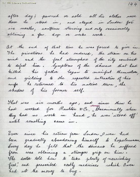 The Ragged Trousered Philanthropists - Manuscript, Page 144