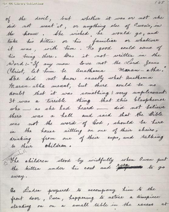 The Ragged Trousered Philanthropists - Manuscript, Page 165