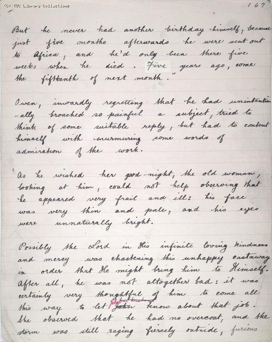 The Ragged Trousered Philanthropists - Manuscript, Page 167