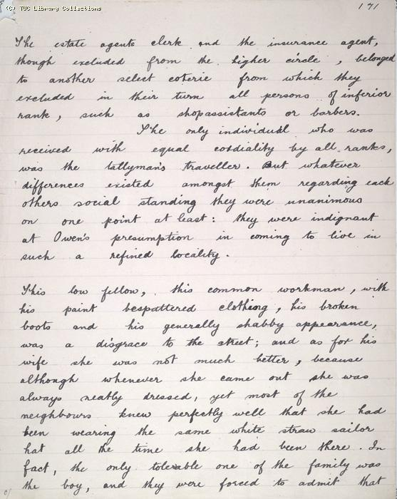The Ragged Trousered Philanthropists - Manuscript, Page 171