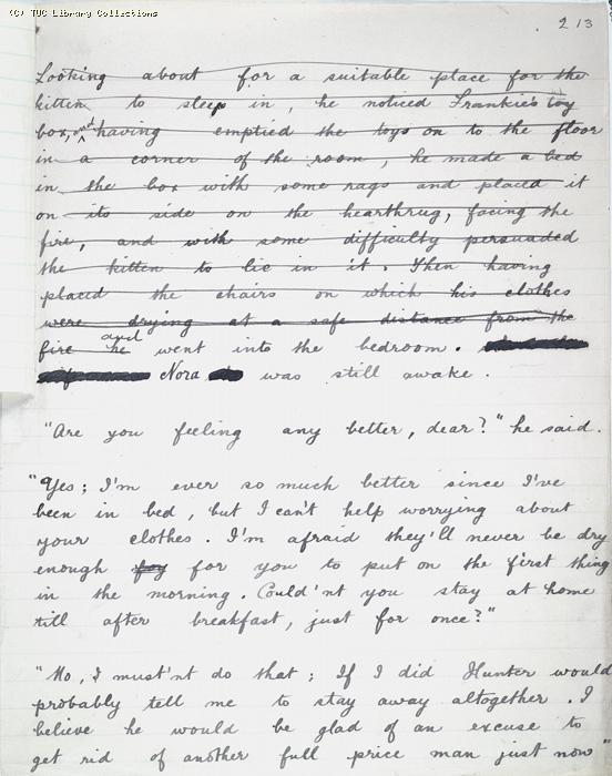 The Ragged Trousered Philanthropists - Manuscript, Page 213b