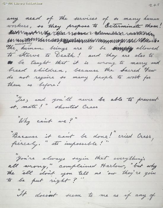 The Ragged Trousered Philanthropists - Manuscript, Page 245