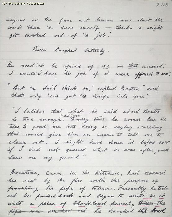The Ragged Trousered Philanthropists - Manuscript, Page 248