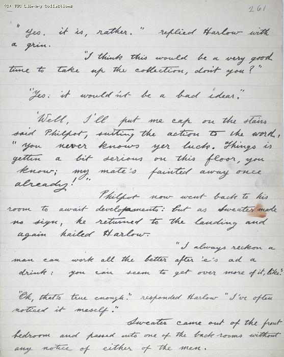 The Ragged Trousered Philanthropists - Manuscript, Page 261