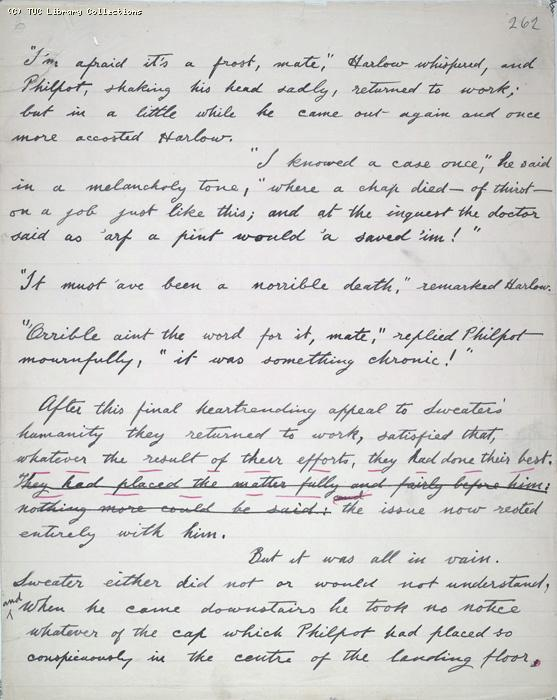 The Ragged Trousered Philanthropists - Manuscript, Page 262