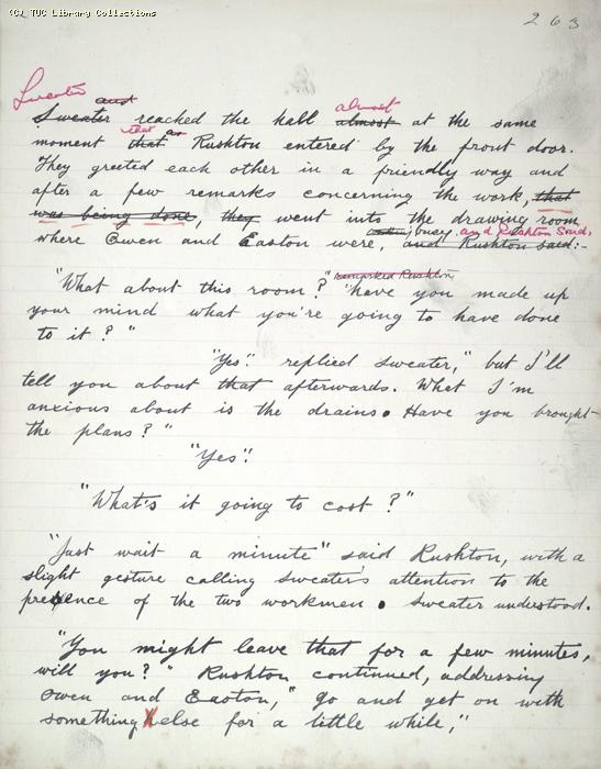 The Ragged Trousered Philanthropists - Manuscript, Page 263