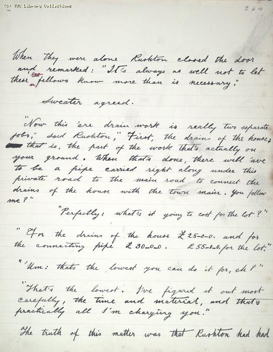 The Ragged Trousered Philanthropists - Manuscript, Page 264