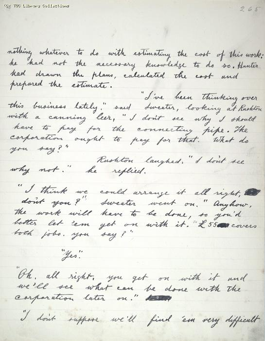 The Ragged Trousered Philanthropists - Manuscript, Page 265