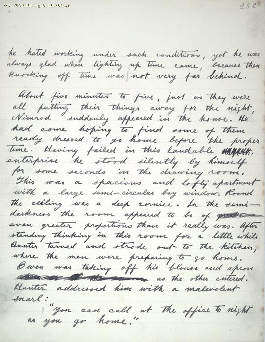 The Ragged Trousered Philanthropists - Manuscript, Page 282