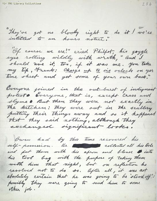 The Ragged Trousered Philanthropists - Manuscript, Page 284