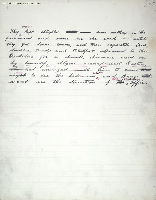 The Ragged Trousered Philanthropists - Manuscript, Page 285