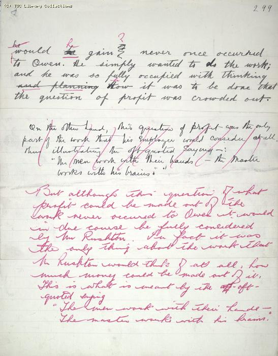 The Ragged Trousered Philanthropists - Manuscript, Page 299