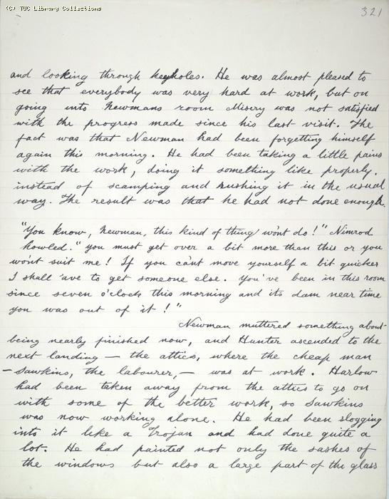The Ragged Trousered Philanthropists - Manuscript, Page 321