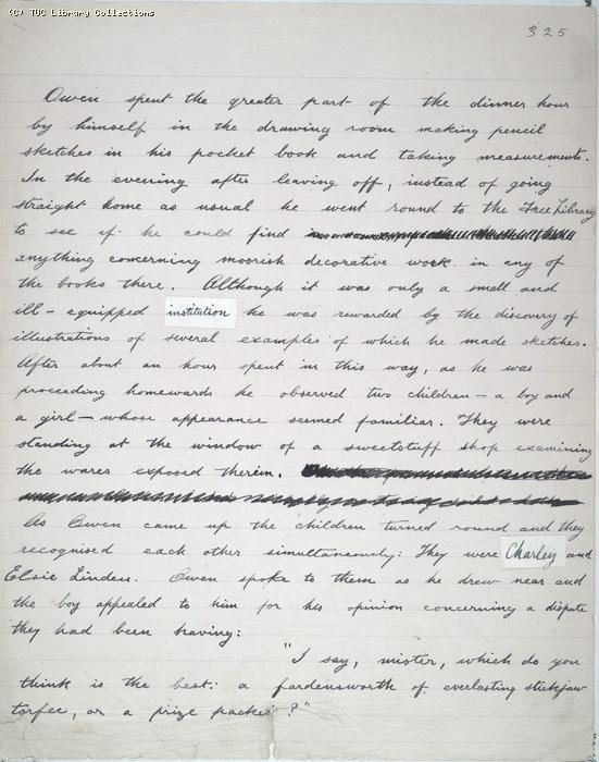 The Ragged Trousered Philanthropists - Manuscript, Page 325