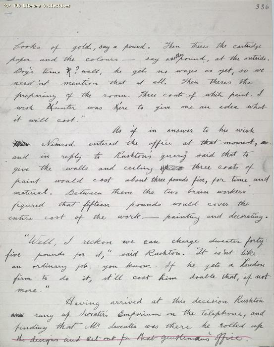 The Ragged Trousered Philanthropists - Manuscript, Page 336