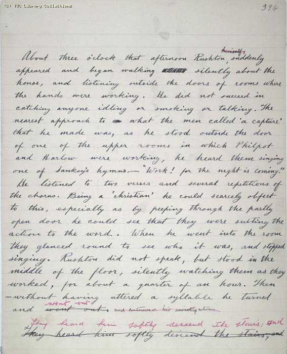 The Ragged Trousered Philanthropists - Manuscript, Page 394