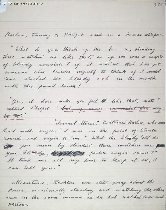 The Ragged Trousered Philanthropists - Manuscript, Page 395