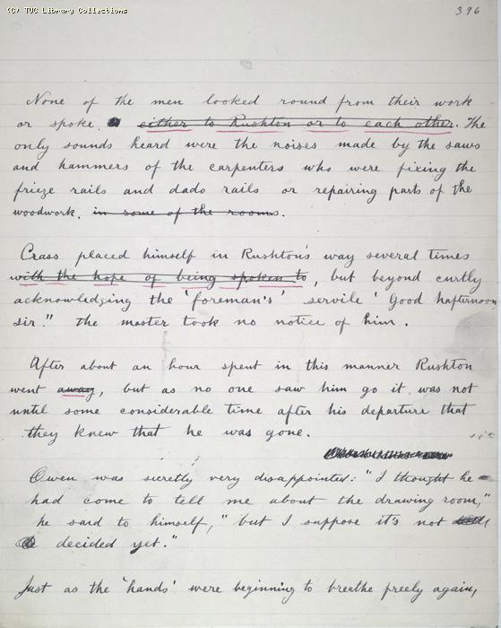 The Ragged Trousered Philanthropists - Manuscript, Page 396