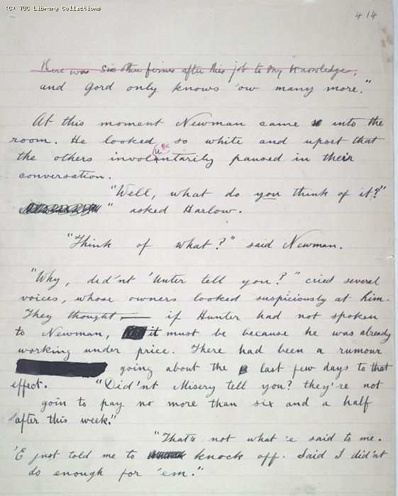 The Ragged Trousered Philanthropists - Manuscript, Page 414