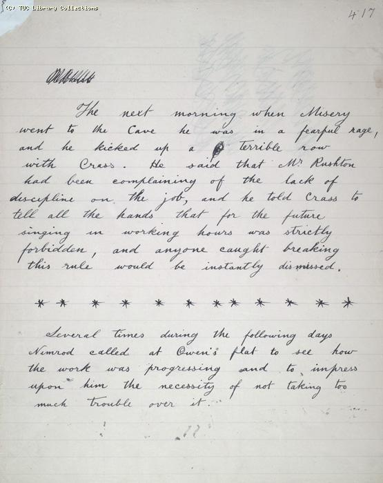 The Ragged Trousered Philanthropists - Manuscript, Page 417