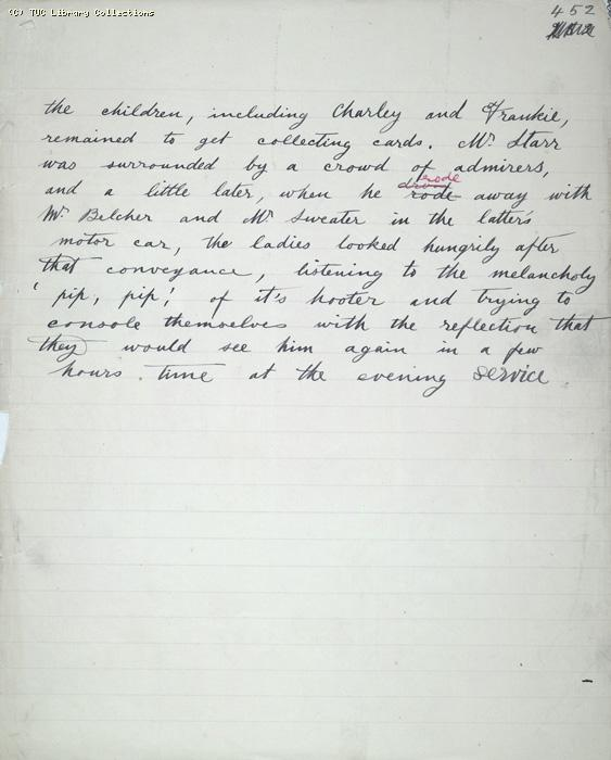 The Ragged Trousered Philanthropists - Manuscript, Page 452