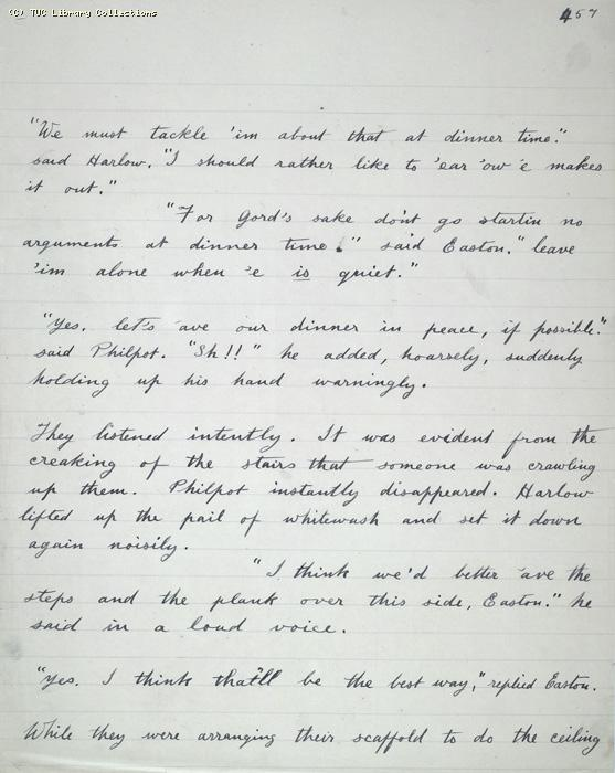 The Ragged Trousered Philanthropists - Manuscript, Page 457